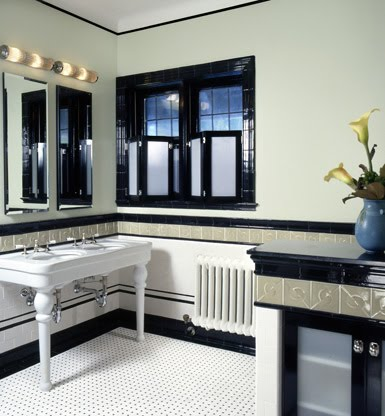 Bathroom Home Design on At Home In Ottawa  Art Deco Bathroom Design By Robin Muto