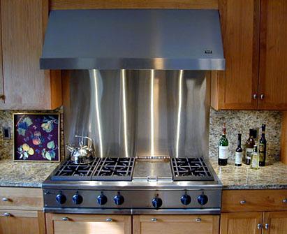 stainless steel backsplash panel