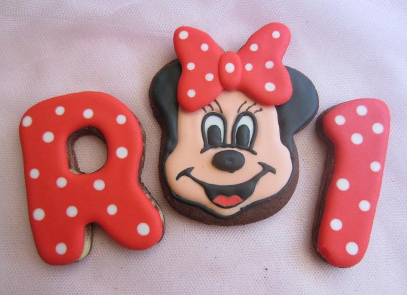 Galletas cumpleaños decoradas tema Minnie