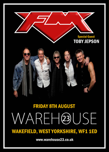FM at Wakefield Warehouse23 8 August 2014 poster