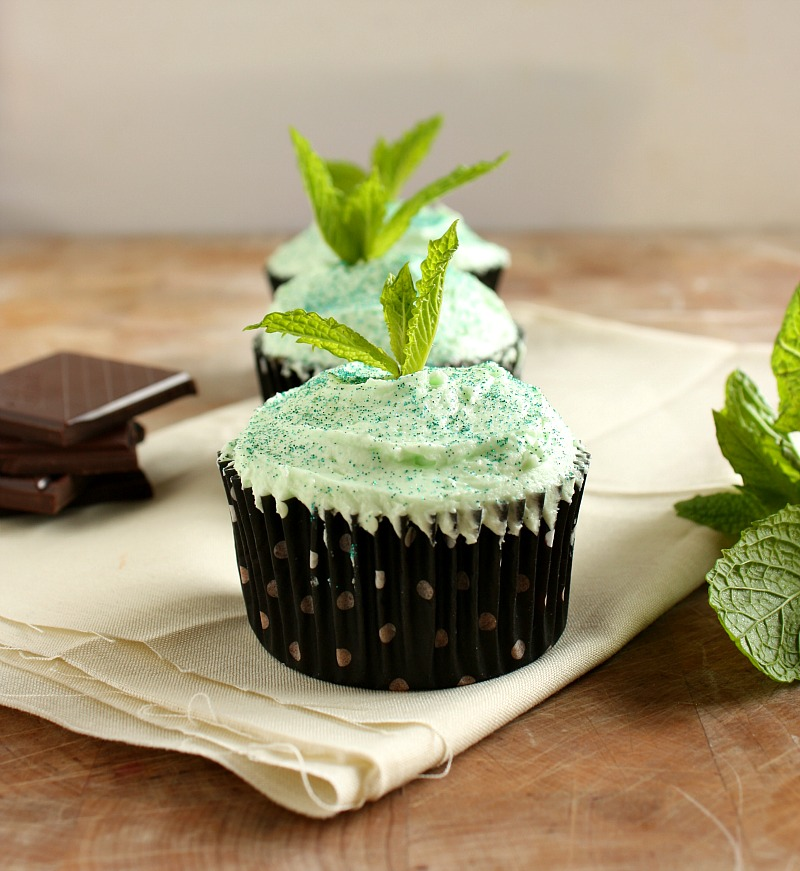 Vanilla Clouds and Lemon Drops: Mint Chocolate Cupcakes