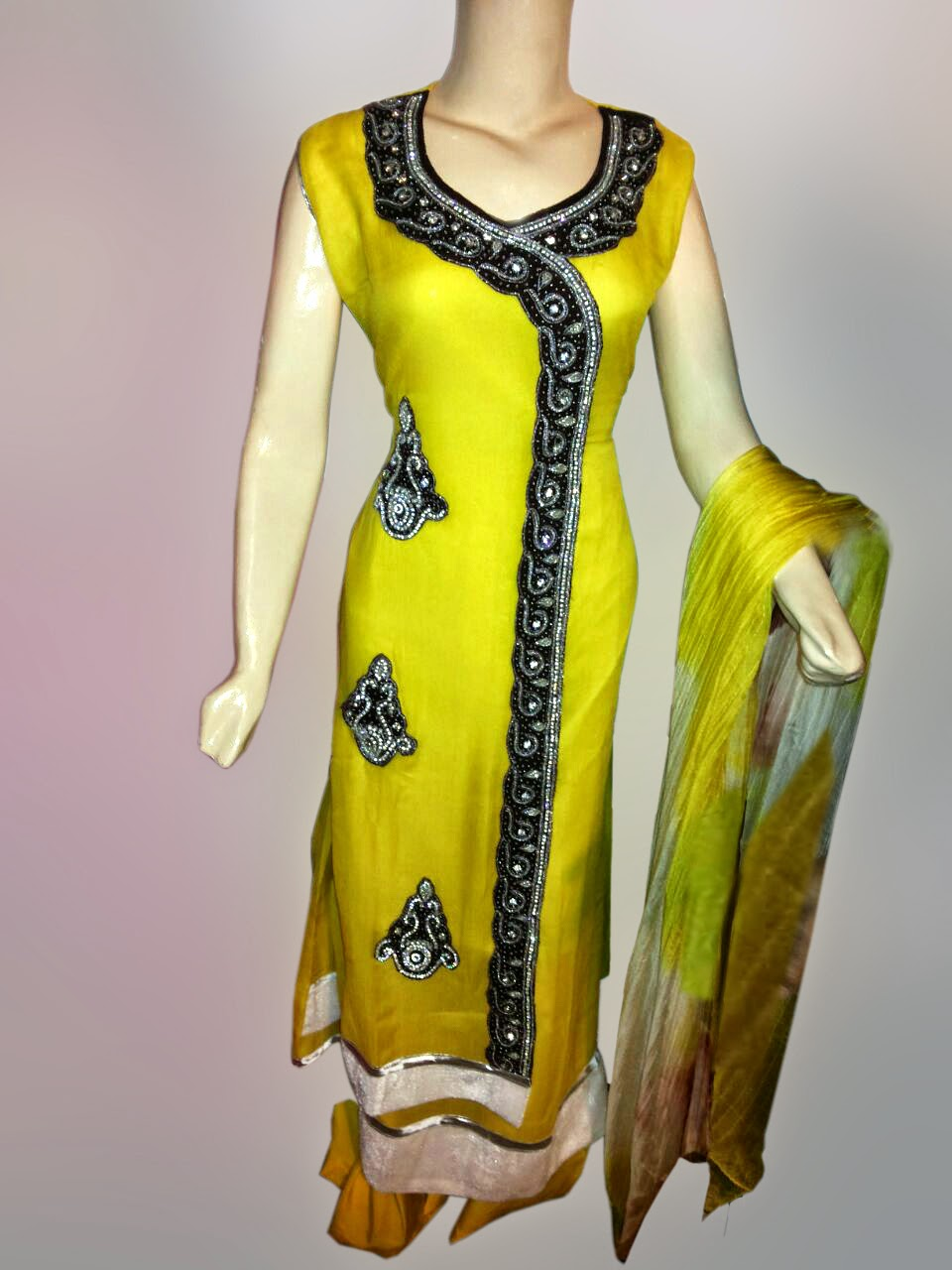 Angarkha Yellow and Black