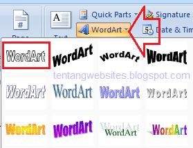 Cara buat text berbayang di msword