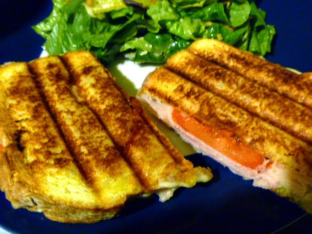 Slice of Southern: Thanksgiving Leftovers: Turkey and Swiss Panini