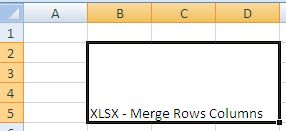 Excel - Merge Cells - Rows and Columns - Java POI Example Program ...