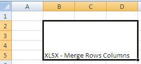 XLSX - Merge Rows and Columns - Java POI Example Output