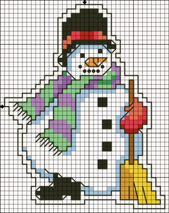 This is an image of Genius Free Printable Christmas Ornament Cross Stitch Patterns