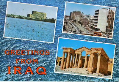 Greetings postcards from Iraq