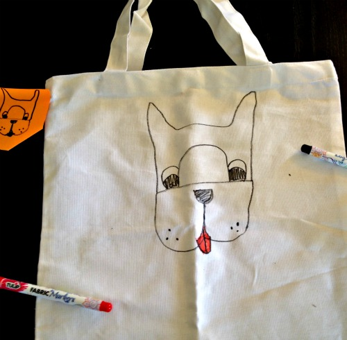 DIY Doggie Tote - Cute Boston Terrier!