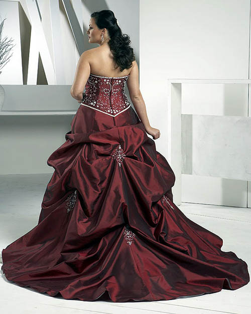 Colored plus size wedding dresses gown and dress gallery for Plus size wedding dress with color