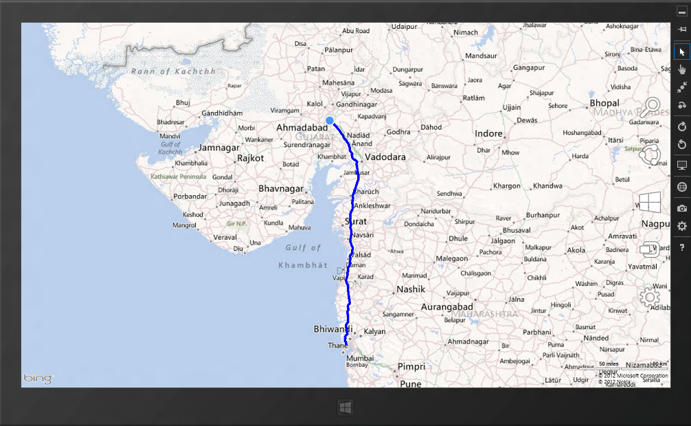 How to draw driving route direction with Bing maps in C#/XAML ... Driving Directions Bing Maps on
