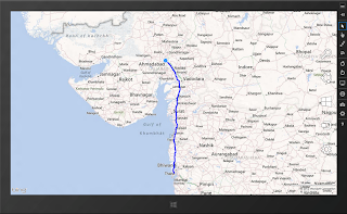 How to draw driving route direction with Bing maps in C#/XAML Windows 8 app