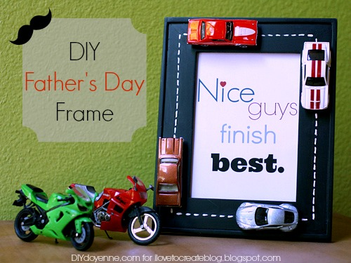 iLoveToCreate Blog: DIY Father\'s Day Frame