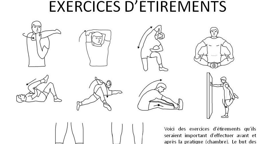 exercices d 39 tirements et d 39 entrainements hockey action. Black Bedroom Furniture Sets. Home Design Ideas