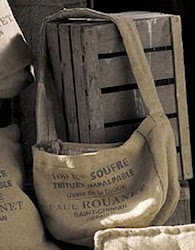 French Burlap Market Totes