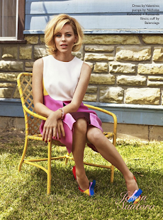 Elizabeth banks does photo spread for The Edit magazine.