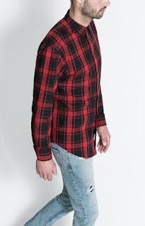 camisa cuadros leñador en color rojo y negro