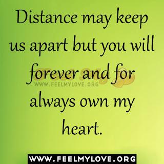 Distance may keep us apart