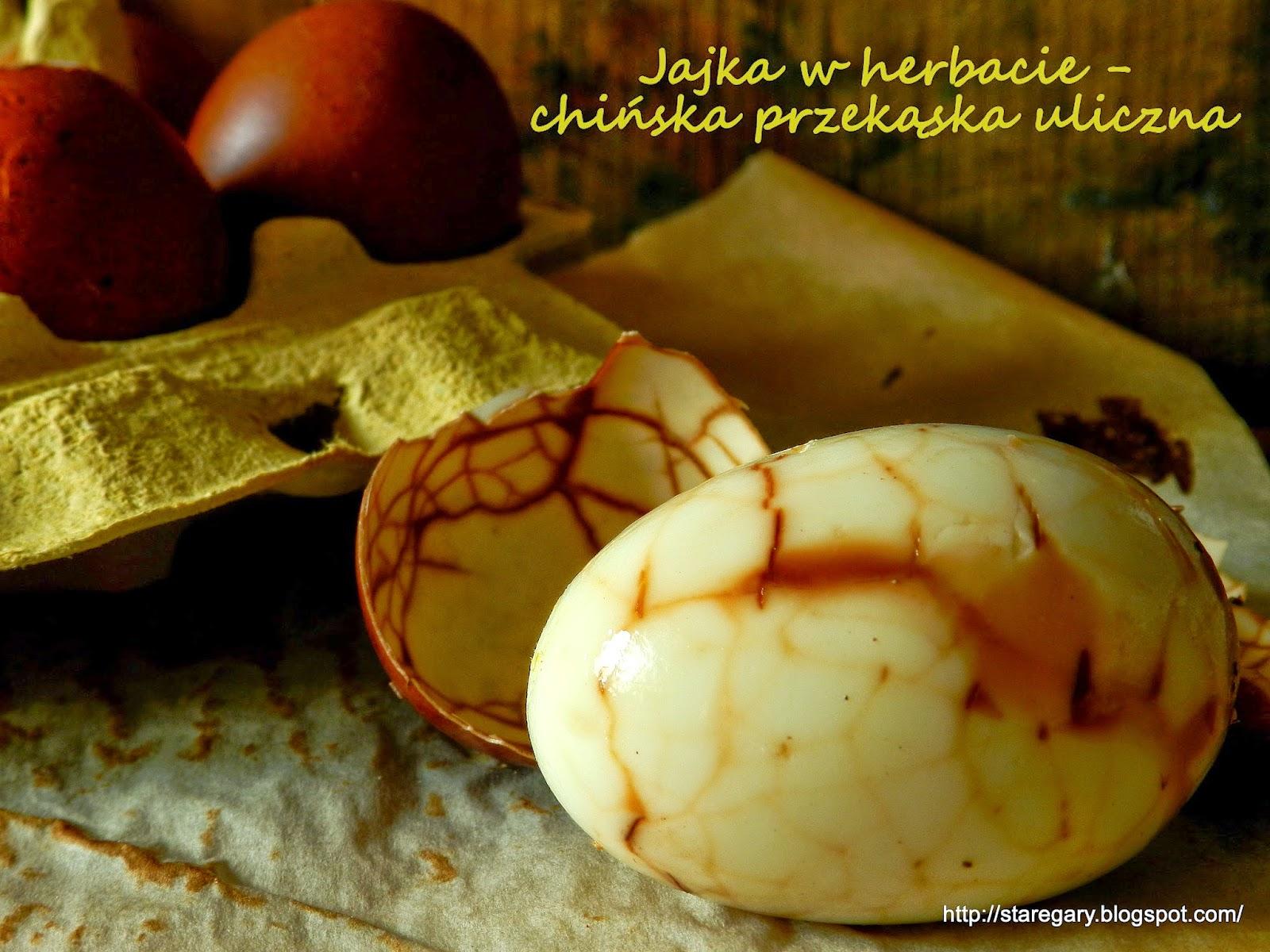 Jajka w herbacie - chińska przekąska uliczna
