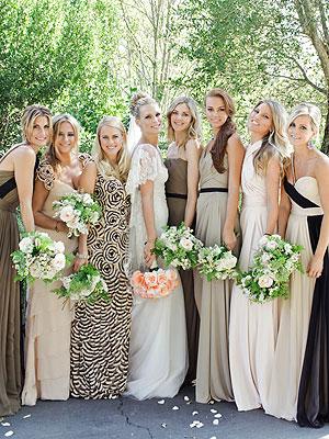 Camel Bridesmaid Dresses