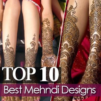 Top ten mehndi designs best 10 arabic indian pakistani for Top 10 designs