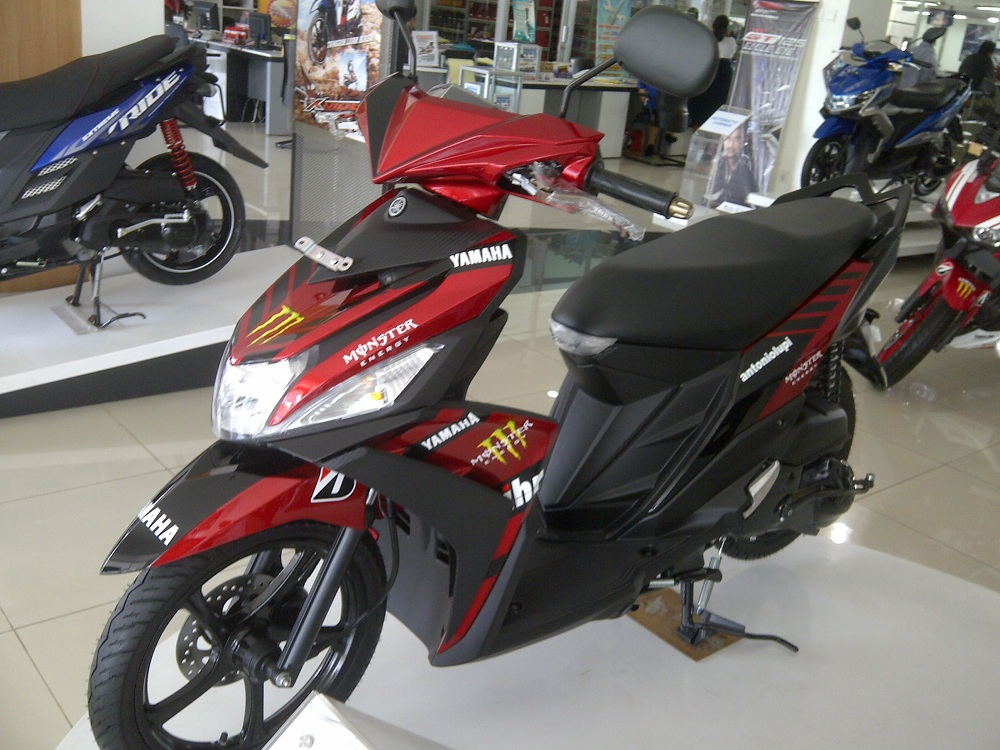 terbaru modifikasi motor mio m3 blue core