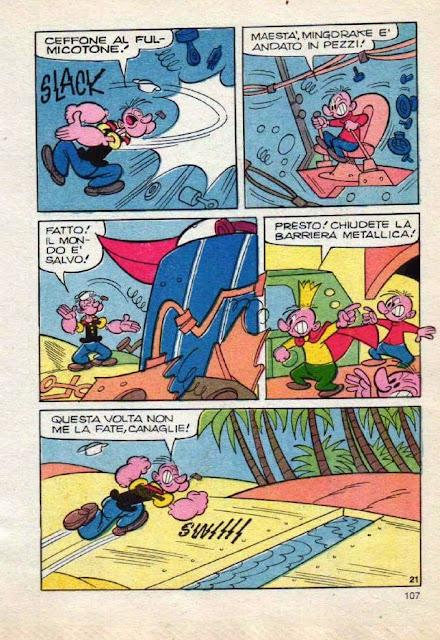 Retronika Popeye Contro Goldrake Da Super Braccio Di