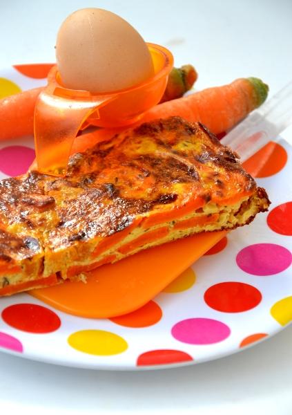 frittata di zucca e carote