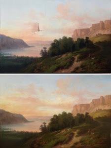 Painting. Artist. Nicolas Victor Fonville.