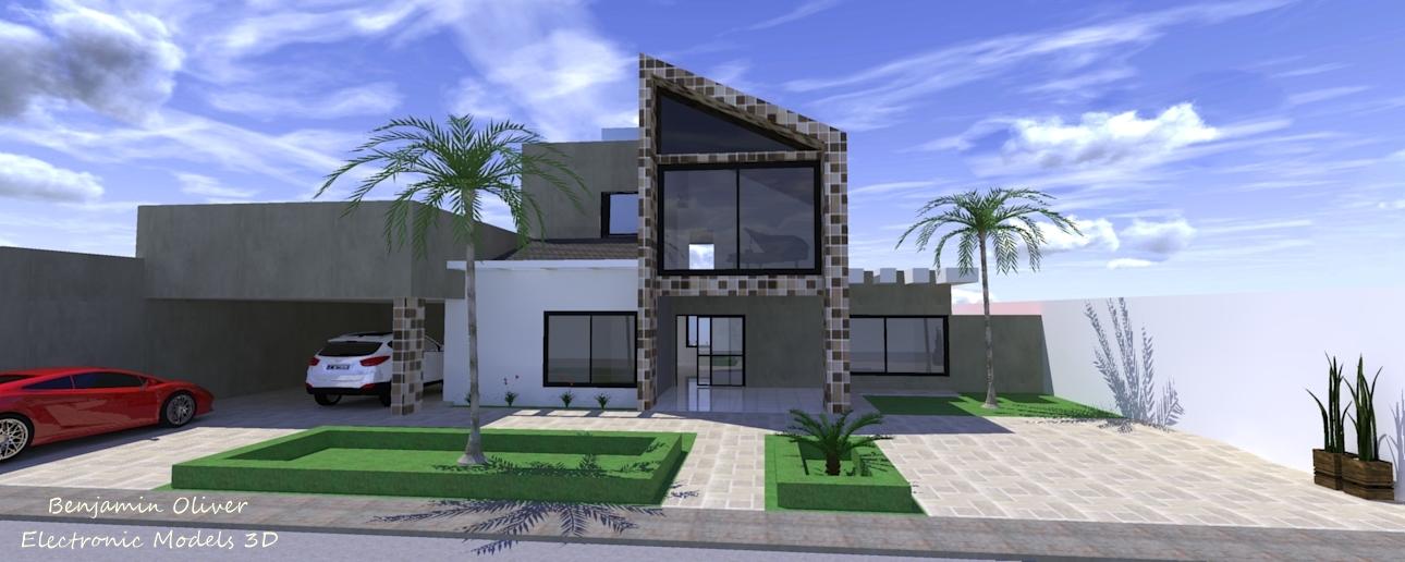 Casas modernas fachadas 3d for Casa moderna sketchup download