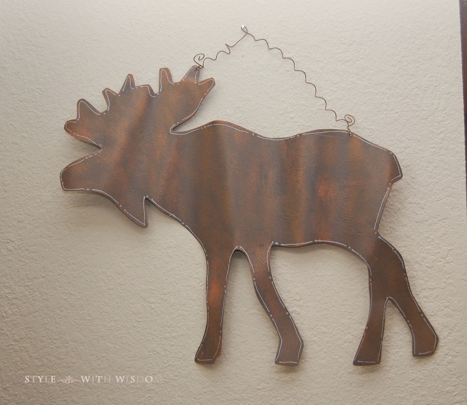 Woodland Nursery metal moose