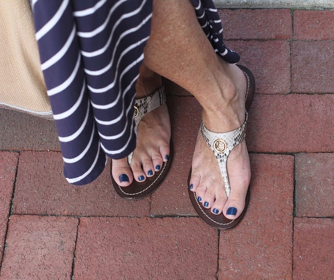 tory burch snake skin sandals