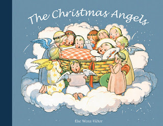 Christmas angels and stars coloring page