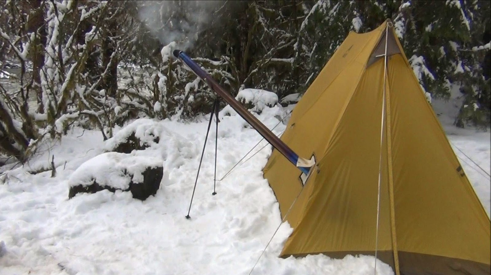 Wawhiker Backpacking Hot Tenting With Wood Stove Winter