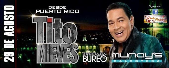 Tito Nieves en el Munays (29 agosto)