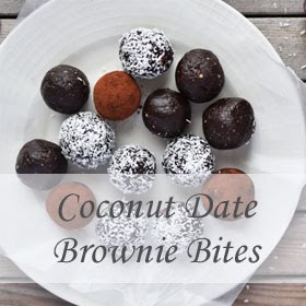Coconut Date Brownie Bites