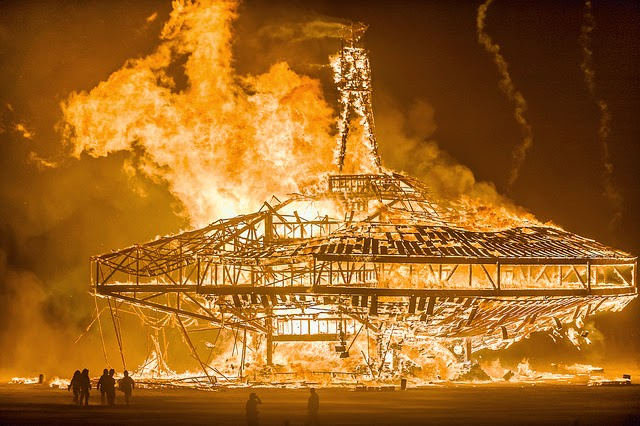 The burning man effigy