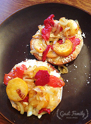 Summer Sunset Bagel Sandwich Recipe