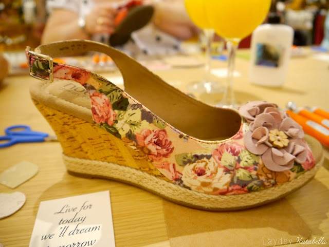 craft workshop at Hotter shoes Peterborough