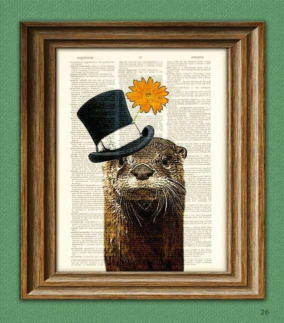 Collage-o-Rama. La Musa Decoración, nutria, Dandy, Picture, Collage