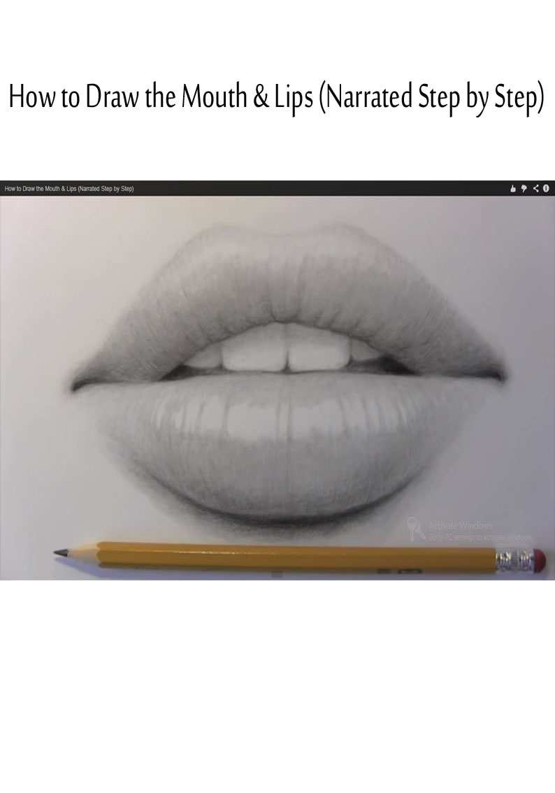 How To Draw The Mouth & Lips