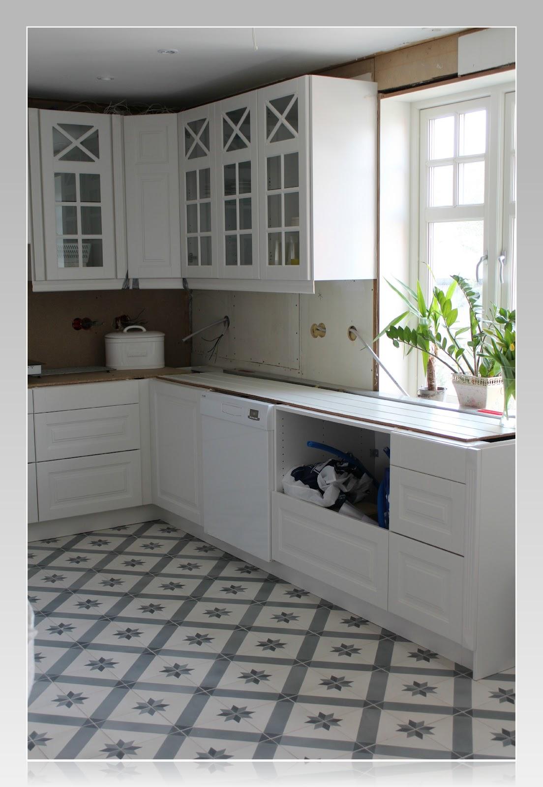 Fliser kjøkken gulv