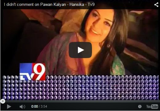 I didn't comment on Pawan Kalyan - Hansika