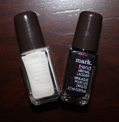 mark. Nailed It Trend Gel-Finish Mini Nail Lacquers in Eggnog & Sugarplum