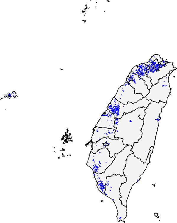 Taiwan 50% population