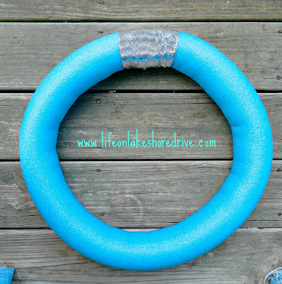 pool noodle wreath how to