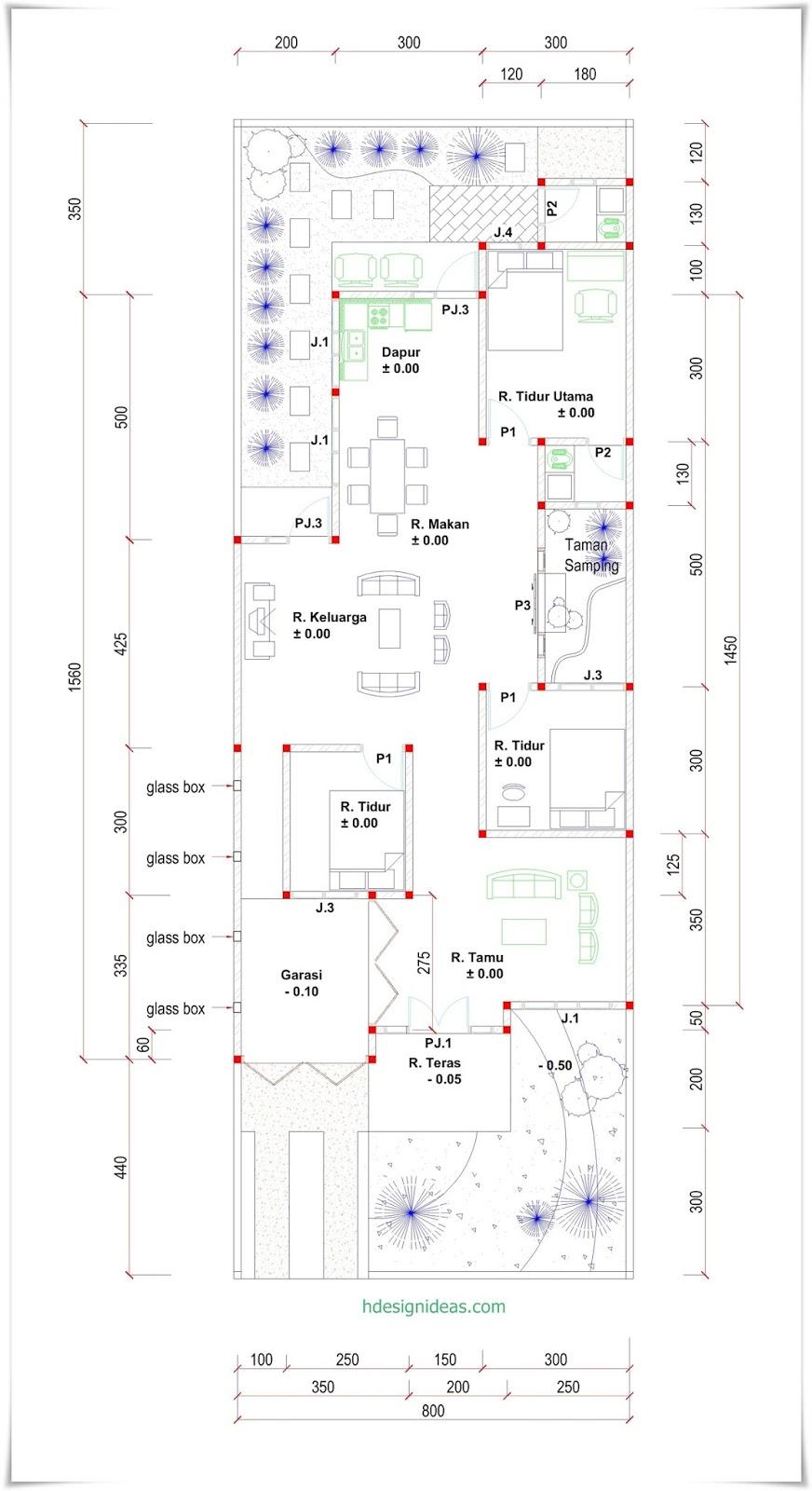 Denah Rumah Ukuran 15 X 8 M Dengan Lahan Memanjang Home Design
