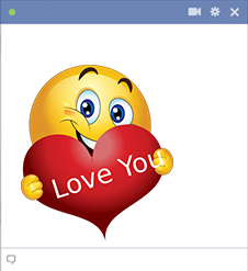 Love you Facebook smiley