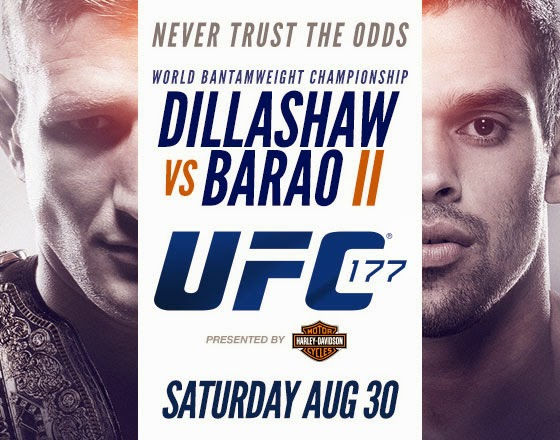 UFC 177 Dillashaw vs. Barao Fight Card and Preview Video