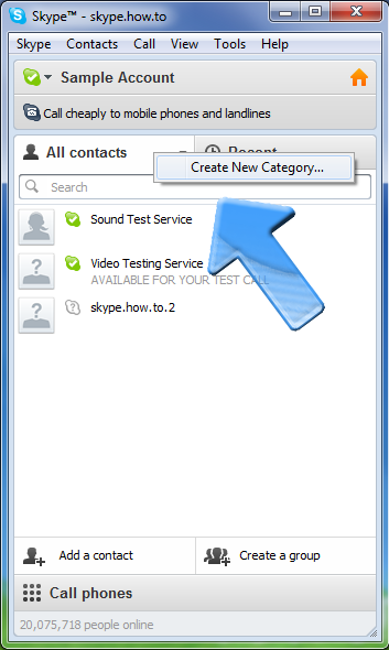 how to make a group call on skpe